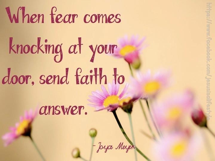 Quotes Faith Vs Fear Quotesgram