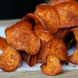 Barbecue Sweet Potato Chips | snacks | Pinterest