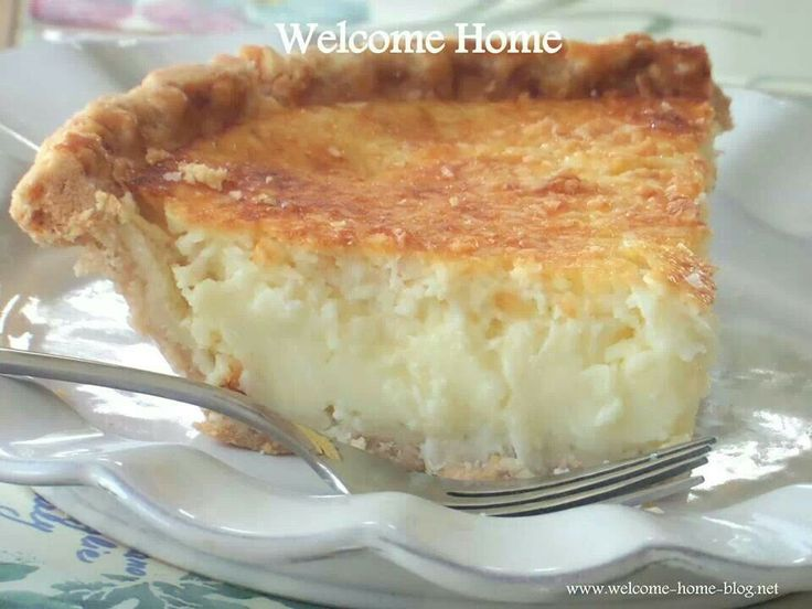 Coconut Custard Pie Recipe — Dishmaps