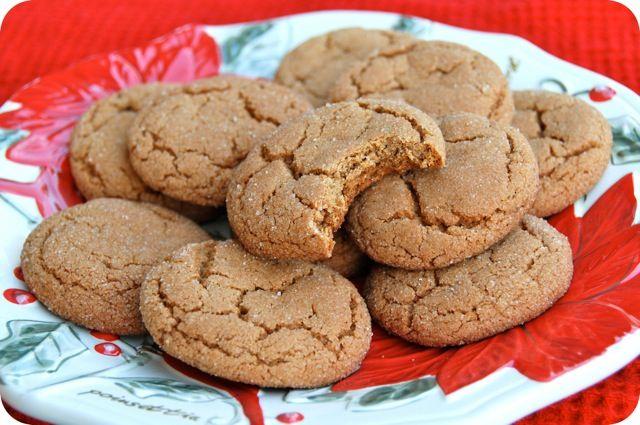 Ginger Molasses Cookies | Holiday Treats | Pinterest