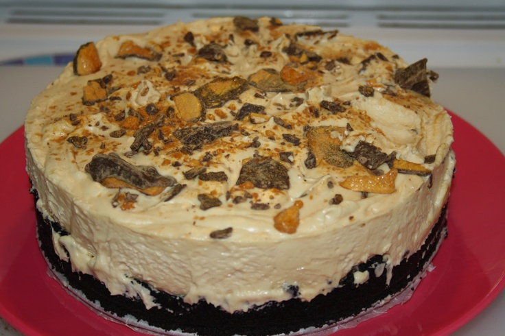 ... Peanut butter pie on an Oreo base, I replaced the crushed peanuts with