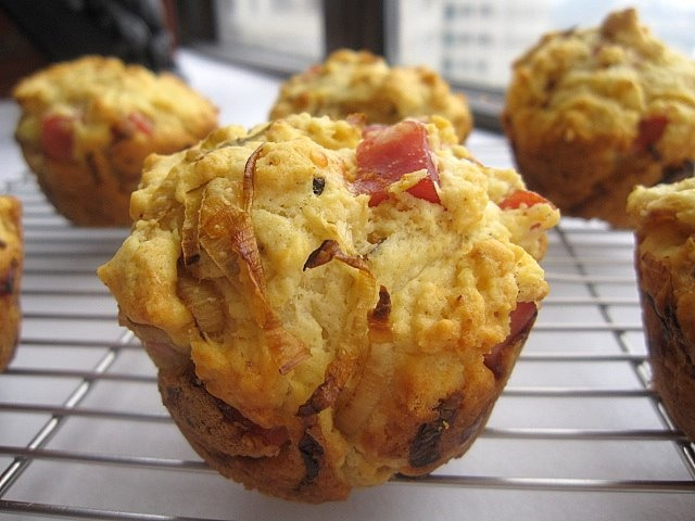 Cheddar And Leek Muffins Recipe — Dishmaps