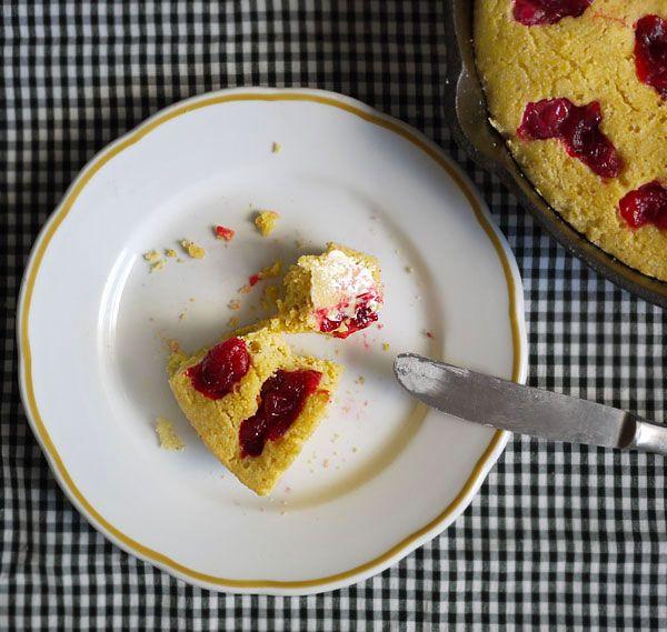 Cranberry Skillet Cornbread. | Breads | Pinterest