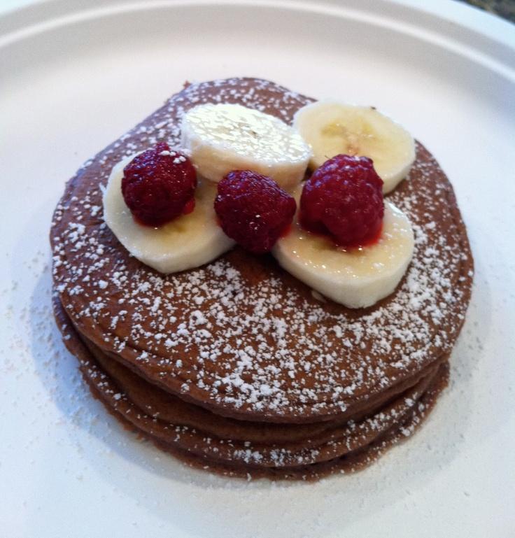 Chocolate Cake Batter Pancakes | Breakfast ideas | Pinterest
