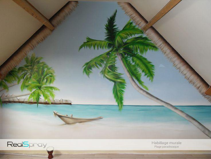 peinture murale  Ideas for the House  Pinterest