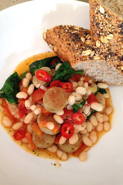 White Bean and Sausage Stew | DIY food | Pinterest
