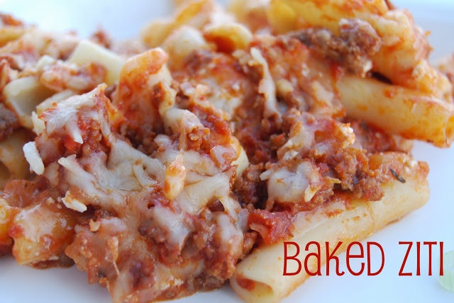 Baked ziti | cook it | Pinterest