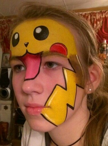 Gallery For gt Pikachu Face Paint