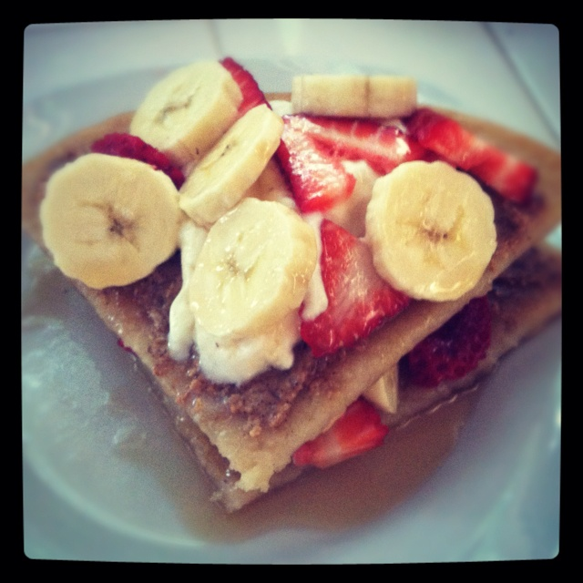 ... with almond butter, fresh fruit, Greek yogurt and local maple syrup