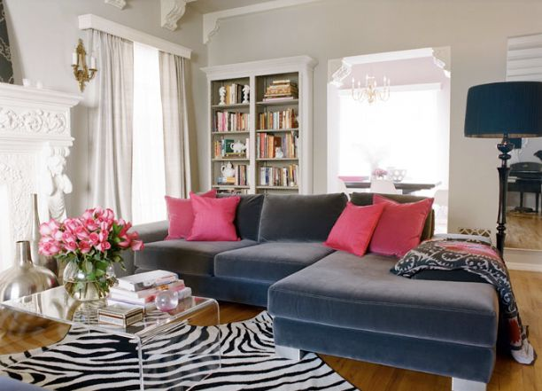 Pin by christy quinn on home decor accessories pinterest for Hot pink living room ideas