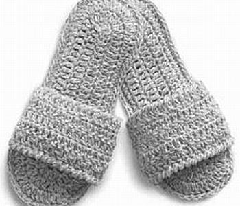 Simple Crochet Slippers – A Free Pattern