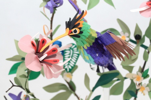Paper sculpture by Diana Beltran Herrera. Wow. Follow the link for more.