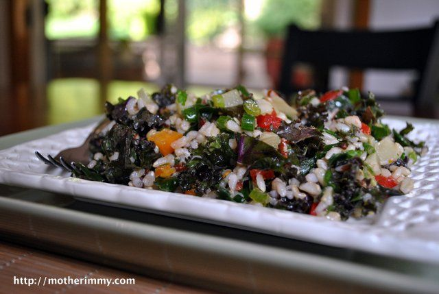 Emerald City Kale, Chard and Rice Salad - Mother Rimmy's Cooking Light ...