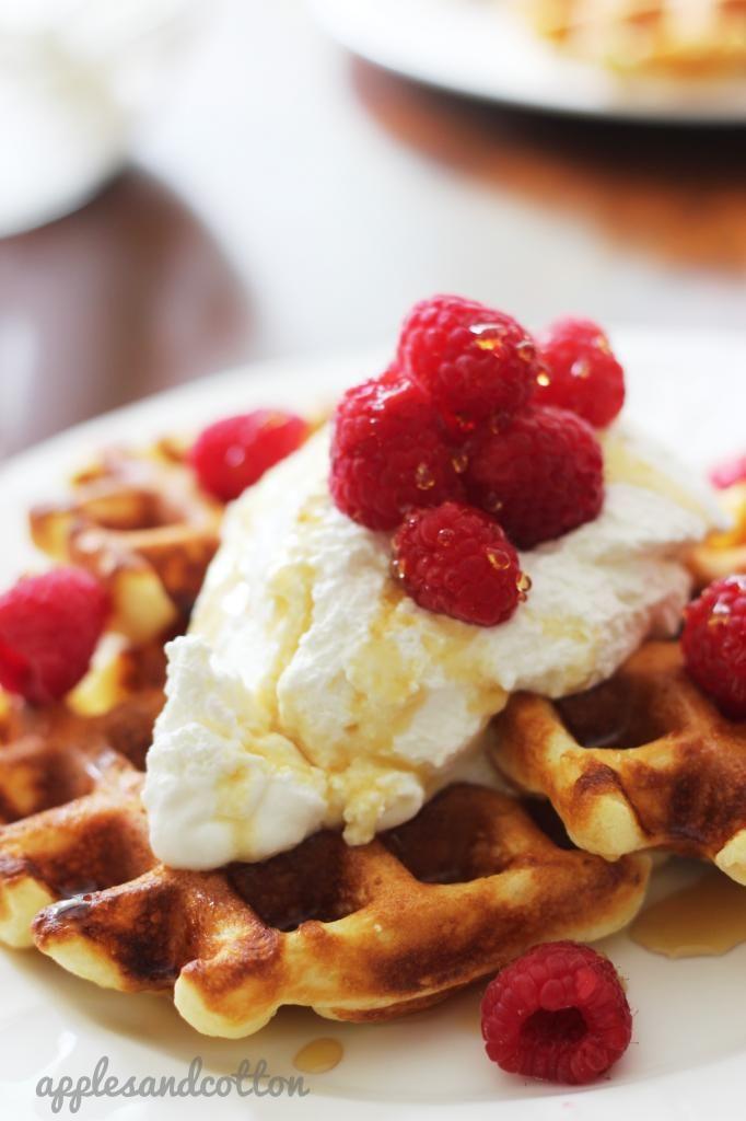 Sour Cream Waffles | Dessert Recipes | Pinterest