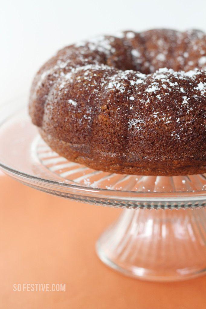 Easy Pumpkin Bundt Cake for Fall from SoFestive.com