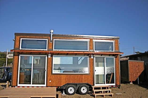 Tiny Surf Shack Home Built On A Trailer For The Home