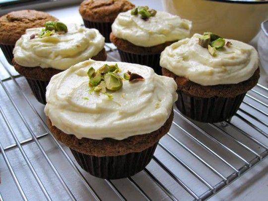 carrot pistachio cupcakes with citrus frosting (coconut & quinoa ...