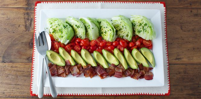 Chicken And Avocado Lettuce Boats With Buttermilk Dijon Dressing ...
