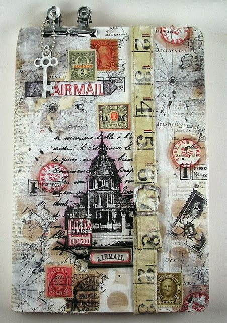 Suzz Stamping Spot, Today we are celebrating Stamptember and the new Simon Says Exclusive Art Journaling Kit by Shari Carroll! She decided to decorate the front of her journal cover...