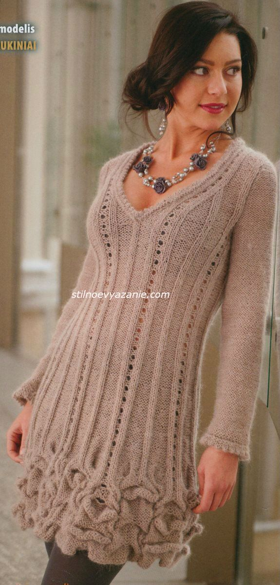 Вязание свитера с мохера с описанием