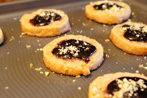 Peanut Butter and Jelly Ice Box Cookies | Cookies ~ Icebox | Pinterest