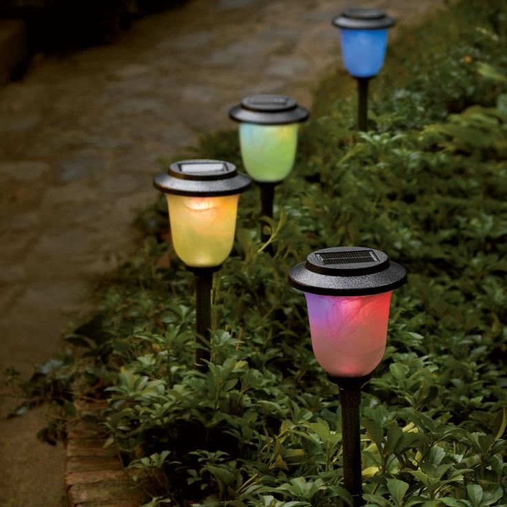 solar color changing pathway light. Black Bedroom Furniture Sets. Home Design Ideas