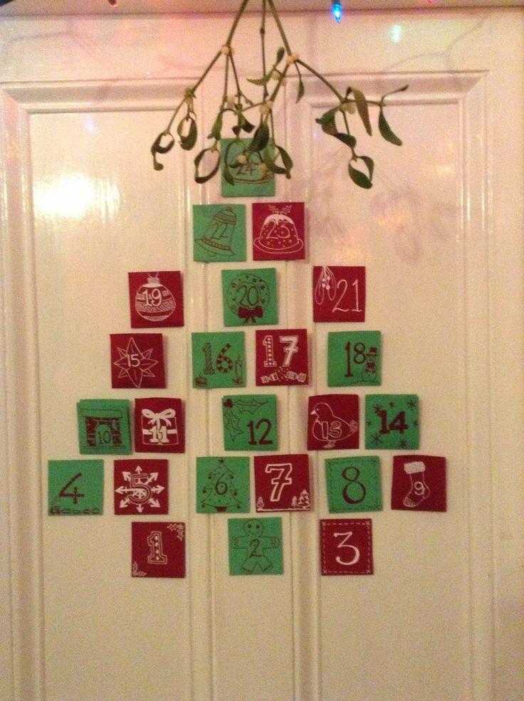 Homemade Calendars With Photos : Homemade advent calendar christmas pinterest
