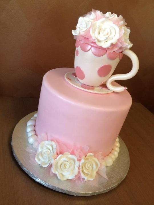 Cake Ideas For A Tea Party Birthday : High Tea Birthday Cake PINK PINK Pinterest