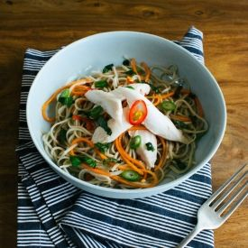 Ginger Poached Chicken with Noodles | Food - Asian Inspired | Pintere ...