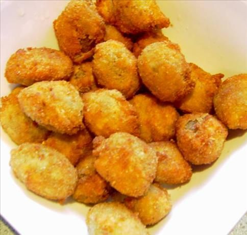 Fried Stuffed Olives | Recipe