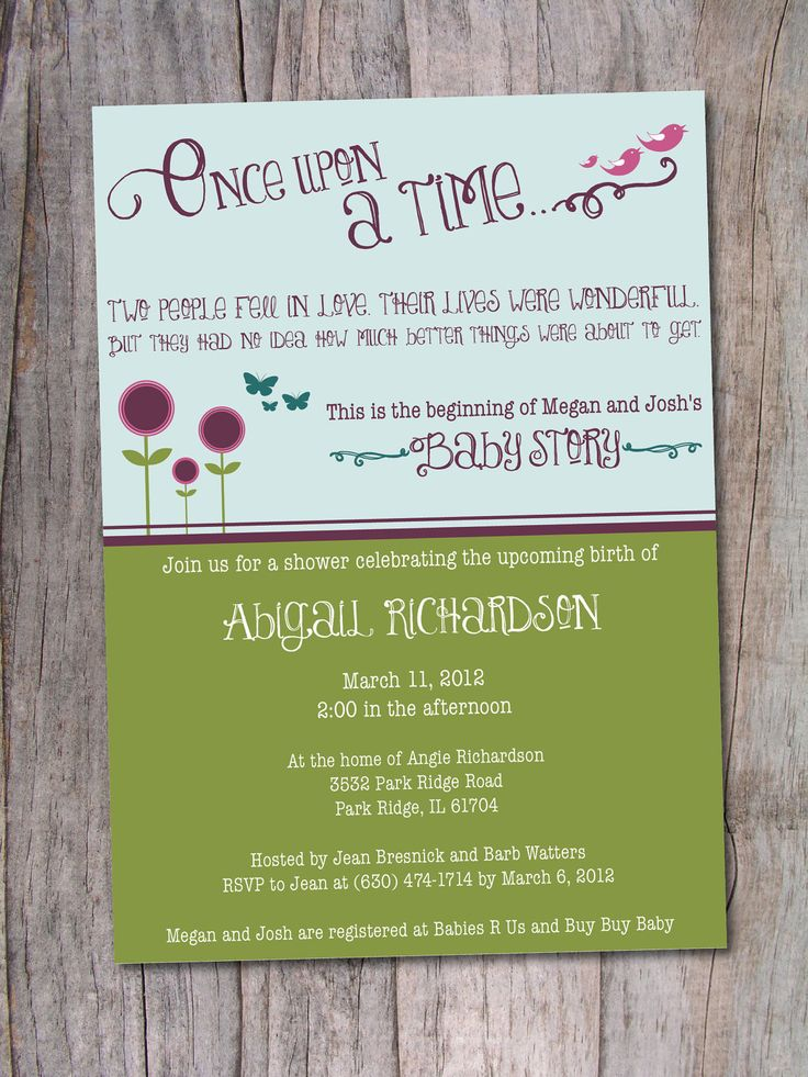 storybook baby shower invitation once upon a time via etsy