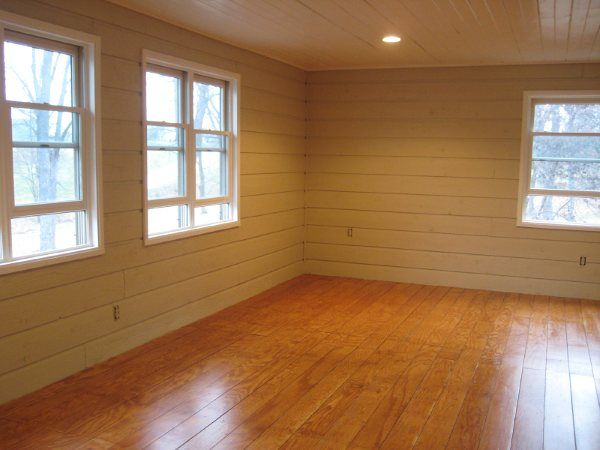 plywood floors.  super cheap!
