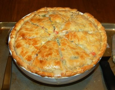 Deep Dish Chicken Pot Pie recipe by The Modern Lady, Beth Hawks