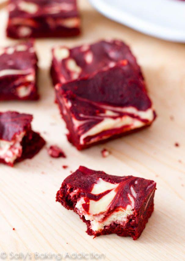 Red Velvet Cheesecake Swirl Brownies. - Sallys Baking Addiction