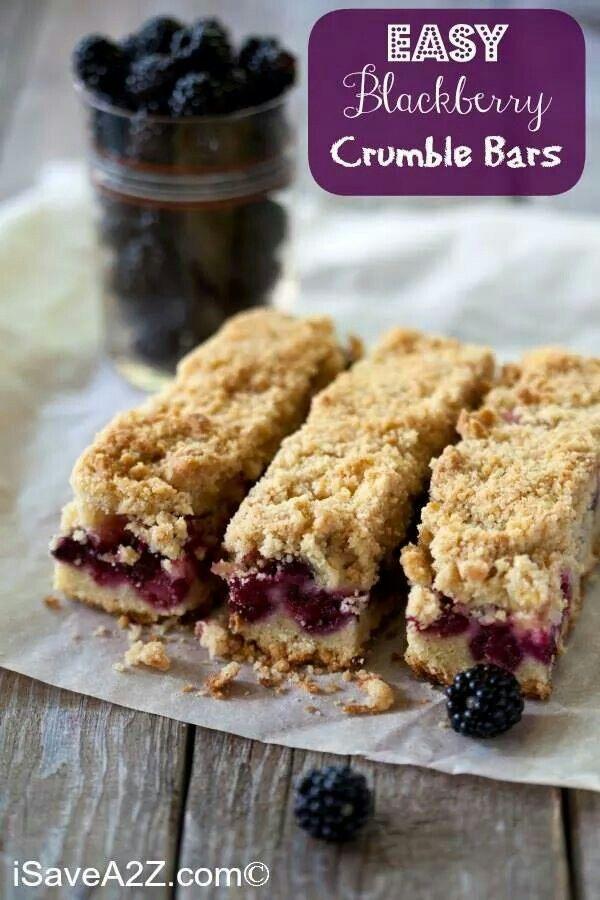Blackberry bars | From scratch | Pinterest