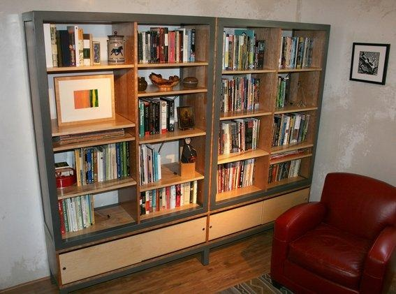 Shelves with Sliding Doors