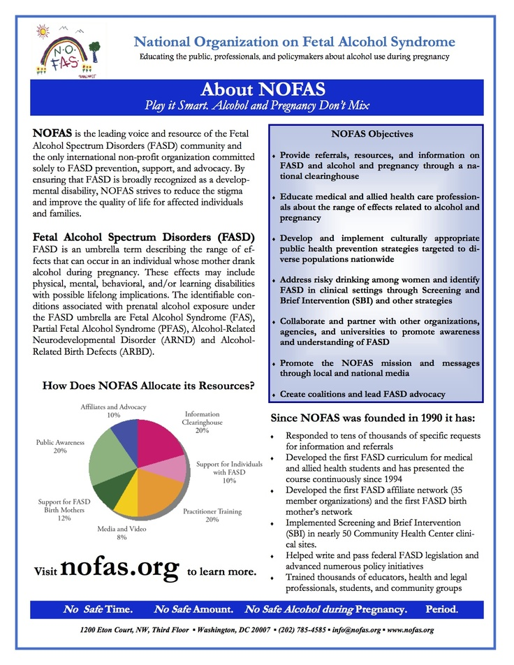 About NOFAS – July 31, 2012 General Information about NOFAS