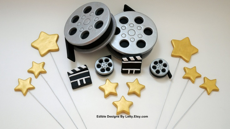 Edible Themed Cake Decoration : Edible Fondant Movie Themed Cake Toppers