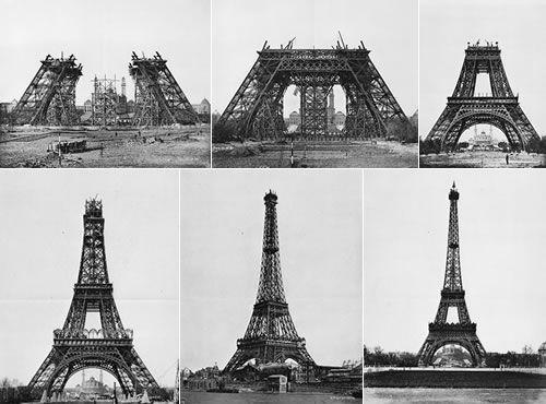 Building The Eiffel Tower Photos Pinterest