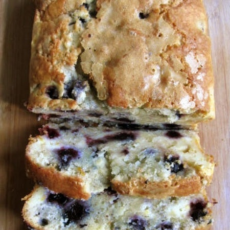 Blueberry Cream Cheese Bread (hoping that I have a good blueberry crop ...