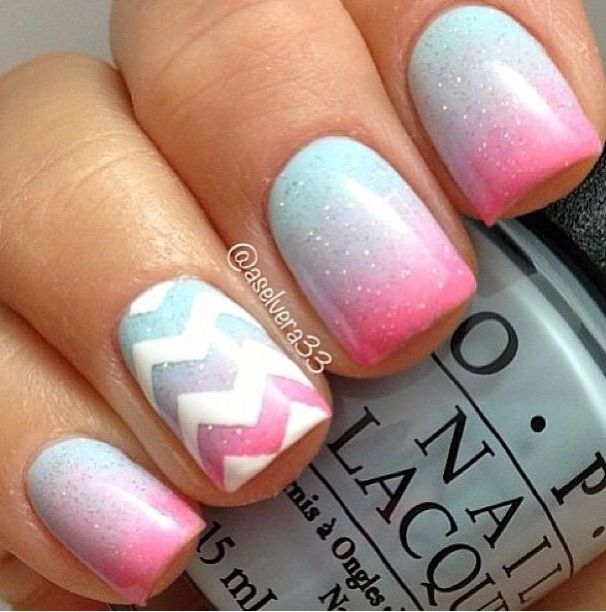 Zig zag nails | NIzzles | Pinterest