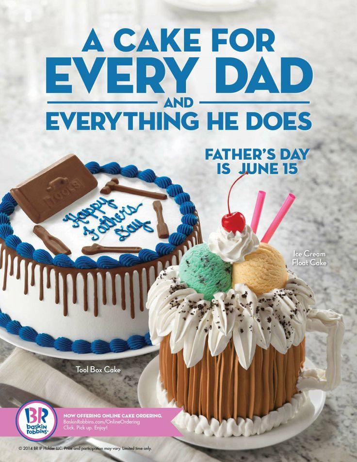 baskin robbins father's day cakes