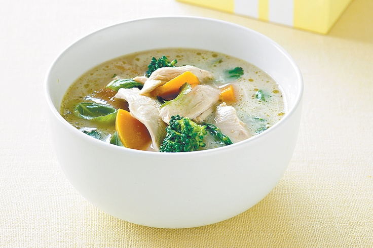 Thai chicken and pumpkin soup - This spicy Thai chicken curry is full ...