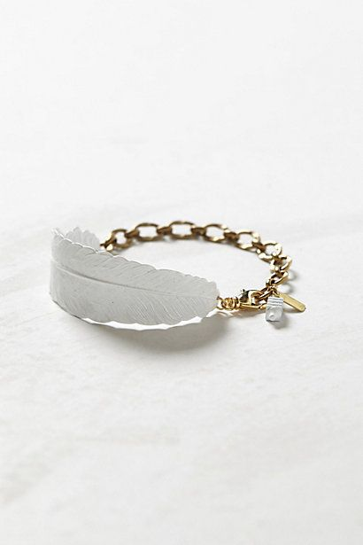 Arced Feather Bracelet     #anthropologie