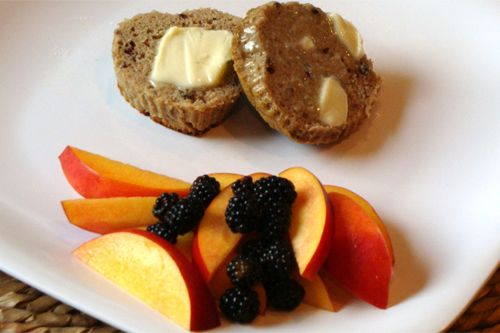 Banana Blackberry Muffins :: bananas, eggs, coconut oil, maple syrup ...