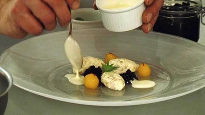Saffron Yogurt Mousse With Rose Petal Honey Recipes — Dishmaps
