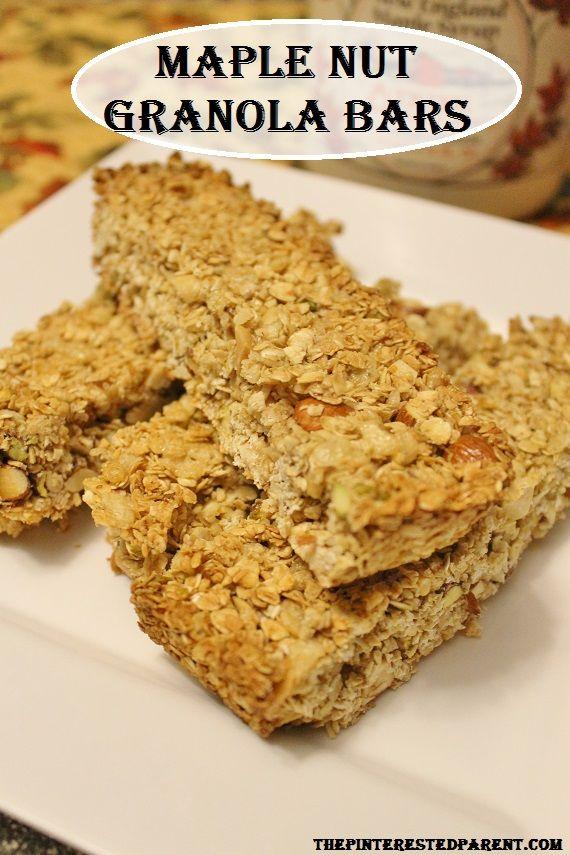 Maple Nut Granola Bars | Desserts | Pinterest
