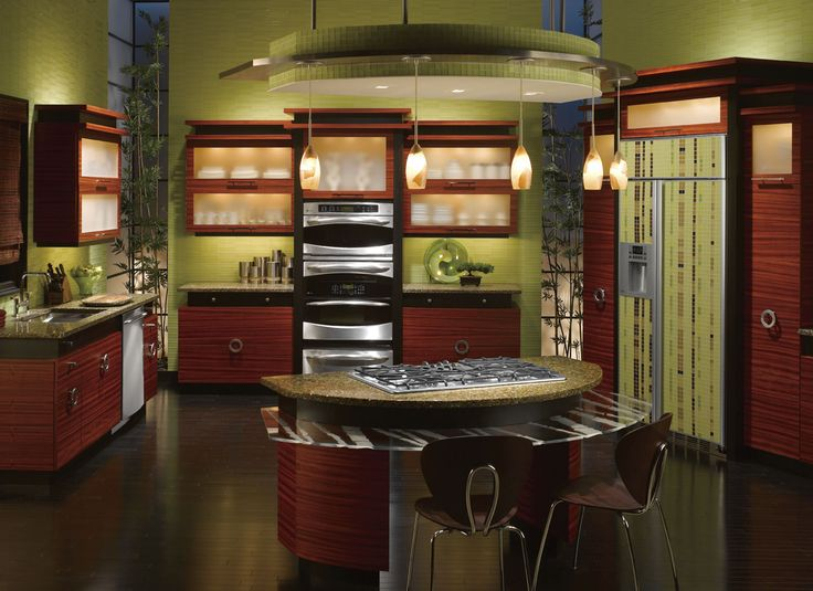 Green zen kitchen design for the home pinterest for Zen style kitchen designs