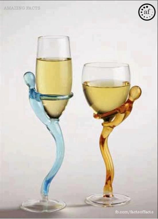 Cool wine glasses glass happy pinterest - Funky champagne flutes ...