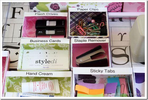 Very nice tutorial on DIY drawer organization!